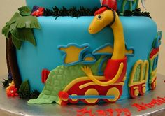 Dinosaur Train & Friends Birthday Cake by JMC Custom Cakes, via Flickr
