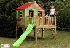 Maison Enfant Bois et Plastique Aurore                                                                                                                                                                                 Plus