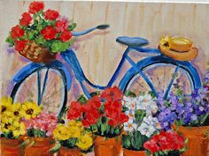The Painted Garden: Painting My Blue Vintage Bicycle
