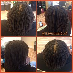 Style: Loc Retight (Interlocks. Formerly Brotherlocks combined to make larger locs) Client's Hair Type: 3c Hair Added: NA Products Used: Coiled! by Conscious Coils (Original Refresher Spray)  Time: 2hrs 36mins Style Duration: Retight every 6-8weeks  #consciouscoils #consciouscoilssalon