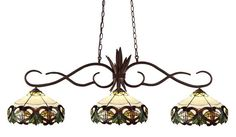 Z-Lite 129brz-z14-33 Chicago Collection 3 Light Billiard