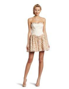 Betsey Johnson Women's Full Skirt Dress, Cream