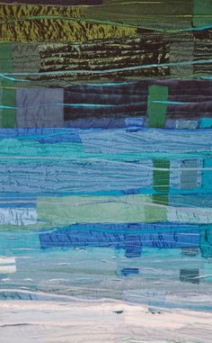close up, Blau-grün-eisig by Cécile Trentini. StoffWerke: Quilts