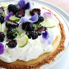 Key Lime Pie - Valerie Confections Desserts For A Crowd, Fancy Desserts, Best Dessert Recipes, Delicious Desserts, Healthy Chocolate Desserts, Flourless Chocolate Cakes, Healthy Sweets, Cream Patisserie, Crunch Cake