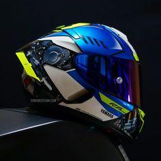 Yamaha Helmets, Shoei Helmets, Cool Motorcycle Helmets, Yamaha Bikes, Yamaha R6, Racing Helmets, Concept Motorcycles, Cool Motorcycles, Helmet Armor