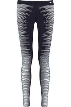 NEED THESE FOR REAL!!!!!!!! #NightRun #MorningRun #WinterRun  Nike Printed Reflective stretch-jersey leggings | NET-A-PORTER