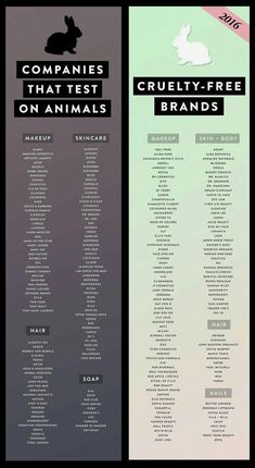Companies that do animal testing and cruelty to makeup and .-Unternehmen, die Tierversuche und Grausamkeiten gegen Make-up und Hautpflege durchführen … Companies that do animal testing and cruelty to makeup and skin care … out - Beauty Care, Beauty Skin, Health And Beauty, Beauty Hacks, Beauty Ideas, Beauty Guide, Beauty Secrets, Diy Beauty, Pure Cosmetics