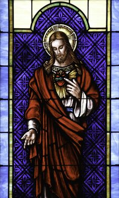 https://flic.kr/p/HJuGpN | Most Sacred Heart of Jesus | Stained glass from the church of the Sacred Heart in Bushwood, MD.  My sermon for today's Solemnity can be read here.