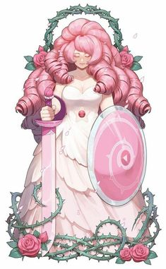 Rose Quartz from Steven Universe.