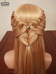 Awesome hair do. Trendy Haircut, Haircuts For Long Hair, Weave Hairstyles, Cool Hairstyles, Waterfall Hairstyle, Medieval Hairstyles, Heart Hair, Medium Hair Cuts, About Hair