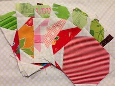 apple quilt block...from Lori Holts book Quilty Fun