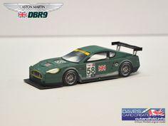 Aston Martin DBR9 GT1 Paper Model by Dave Winfield - Dave's Card Creations © www.cutandfold.info