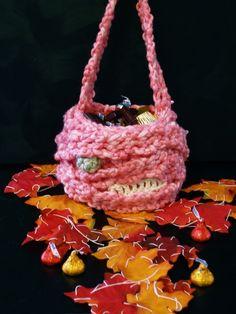 "Crochet fun little treat bags for #Halloween! by ""the Crochet Dude"" Drew Emborsky."