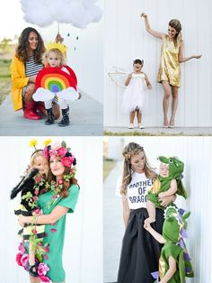 Four Mom and Kid Halloween Costume Ideas from @potterybarnkids. Photo by @chrissypowers