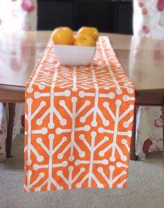 Orange party decoration    WK    koningsdag    kingsday    Orange Table Runner  Mandarin Table Runner. Premier by KikoyChic, $16.00