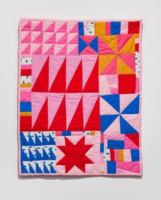 Create Collage, Colorful Quilts, Textiles, Art Blog, Baby Quilts, Fiber Art, Portland, Quilt Patterns, Vibrant Colors