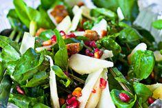 Pear, watercress and pomegranate salad – Recipes – Bite