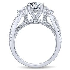 Unique pear shaped engagement ring designs at Gabriel & Co to express a love as unique as you. Your dream ring ? Princess Cut Engagement Rings, Round Diamond Engagement Rings, Engagement Ring Settings, Wedding Band Sets, Wedding Rings, Fashion Rings, Fashion Jewelry, Stone Rings, Criss Cross