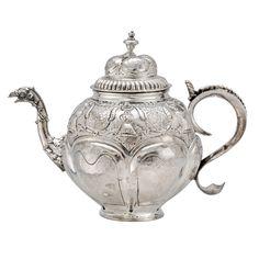 Betteridge Collection Antique Dutch Silver Tea Pot with Eagle Spout