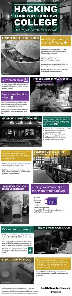 Infographic: Hacking Your Way Through College A Simple Guide To Survival