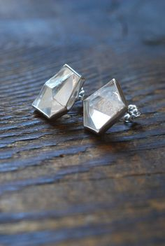 Tetragonal Crystal Stud Earrings by dollybirddesign on Etsy
