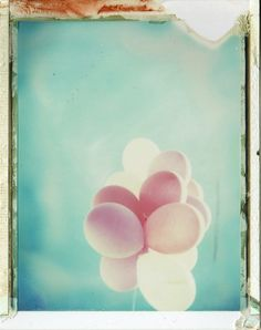 """When the heart floats"" by emilie79* @flickr #polaroid #balloons"
