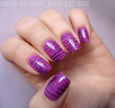 Color Forever: Striped fan brush  #nail #nails #nailart
