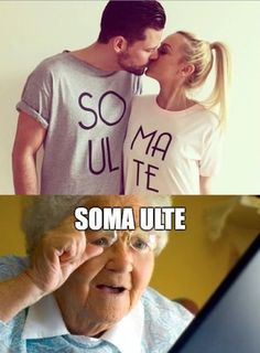 Totally just read that the same way the old lady did!! Lol .... SOMA ULTE