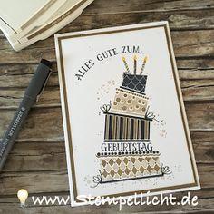 Cake Crazy in Männerfarben Wildleder, Savanne, Schwarz. Geburtstagskarte