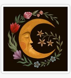 'Midsummer Moon' Art Print by Laorel Moon Painting, Painting & Drawing, Acrylic Painting Flowers, Space Painting, Gravure Illustration, Illustration Art, Arte Quilling, Canvas Prints, Art Prints