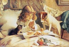 LARGE SIZE PAINTINGS: Charles Burton BARBER Blessing