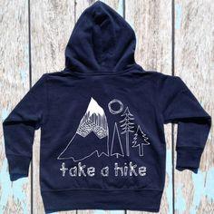 Toddler Take A Hike Front Zip Hooded Sweatshirt Hoodie Hoody