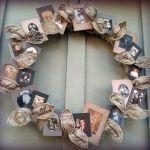 Make a Family Tree Wreath...Idea for next family reunion.