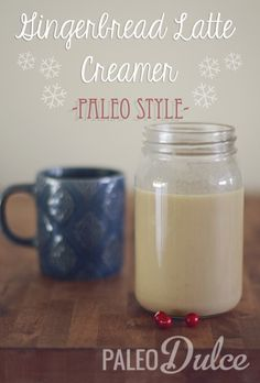 Gingerbread Latte Creamer | www.paleodulce.com {{DM: very tasty; used 2 T grass fed butter and blended after it was heated before putting into fridge}}