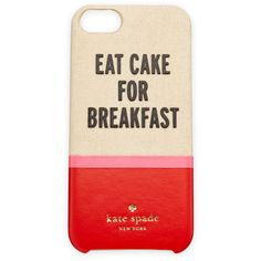 kate spade new york eat cake resin/canvas i Phone 5 case ($40) ❤ liked on Polyvore featuring accessories, tech accessories, phone cases, phone, cases, electronics, multi colors and kate spade