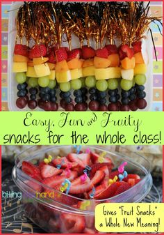Biting The Hand That Feeds You: Easy and Fun Fruity Classroom Snacks!