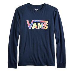 b5bbe633f83173 Boys 8-20 Vans Long Sleeve Tie-Dye Logo Graphic Tee