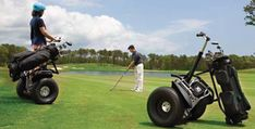 What a kewl way to get around the course, but i would so wreck this thing.. lol
