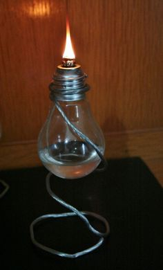 Light Bulb Oil Lamps from Humble Lore