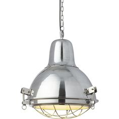 CB2 Vessel Pendant Light ($269) ❤ liked on Polyvore featuring home, lighting, ceiling lights, outside shades, hanging chain lamp, outside lights, clamp light and cage pendant light