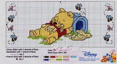 Cross-stitch Winnie the Pooh