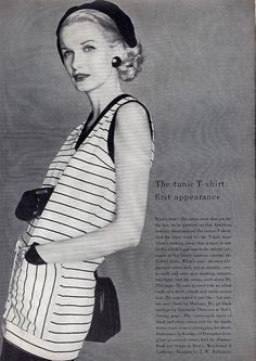 june 1955 vogue, Sunny Harnett, tunic t-shirt by Korday