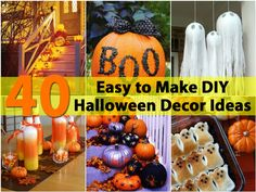 Halloween is a great time for decorating. Many people spend days, not to mention a small fortune, making their homes look scary and fun. The truth is that you don't really have to spend a fortune on Halloween decor.