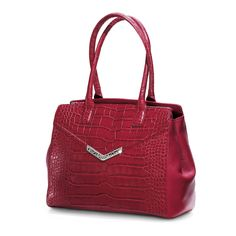 Brighton Frances Croco Tote in lipstick-- combine croco and the season's trending tone. Brighton Handbags, Brighton Bags, Brighton Jewelry, Types Of Bag, Fall Trends, Purses And Bags, My Style, Lipstick, Red