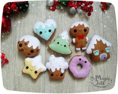 Christmas ornament felt Gingerbread ornaments Christmas tree decorations Cookie felt ornaments Christmas Party favors New year decor by MyMagicFelt on Etsy