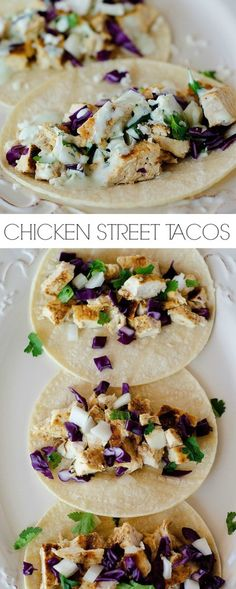 Incredibly flavorful chicken tacos!!