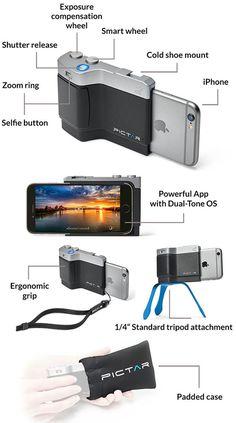 Pictar-Kickstarter-grip-iPhone-real-camera