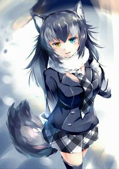 kemono friends Part 17 - - Anime Image Manga Girl, Anime Wolf Girl, Anime Girl Hot, Kawaii Anime Girl, Anime Girls, Anime Neko, Lobo Anime, Fanarts Anime, Cute Neko Girl