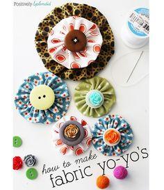 Tutorial: How to make fabric yo yos, plus a template