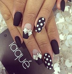 Black and white polka dots love these